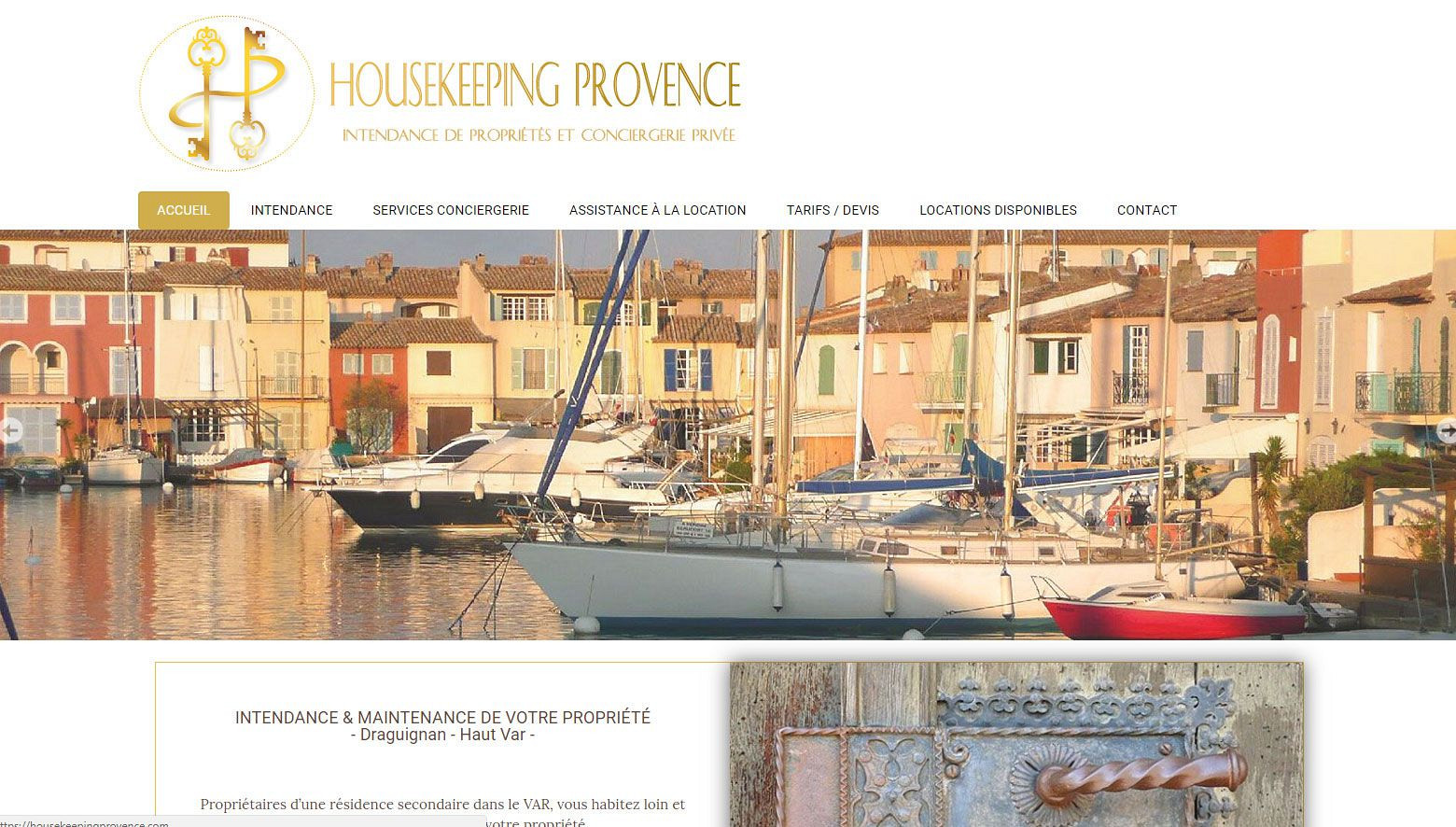 Site Internet Draguignan Var: housekeepingprovence.com